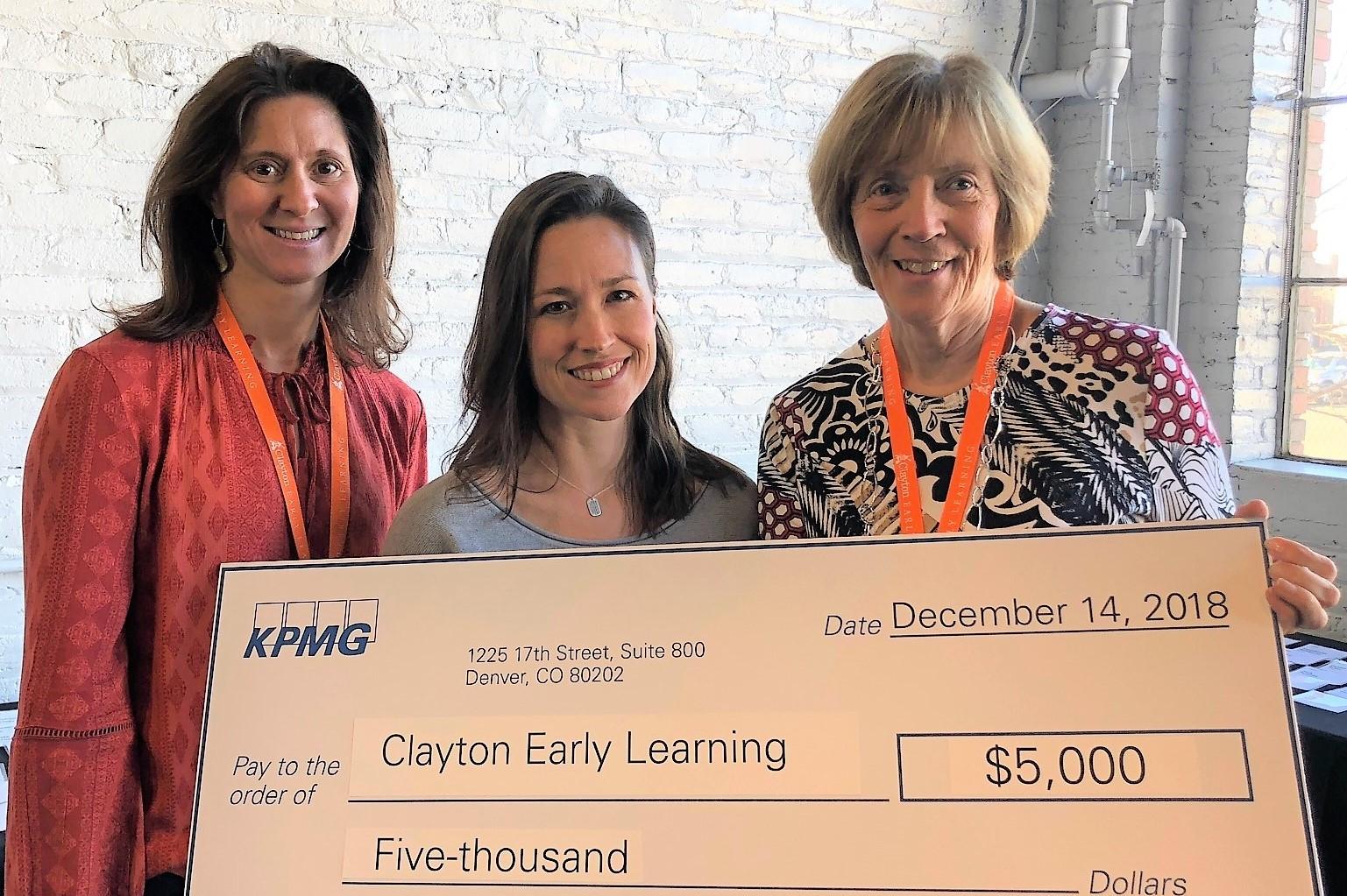 KPMG Awards $5,000 to Clayton