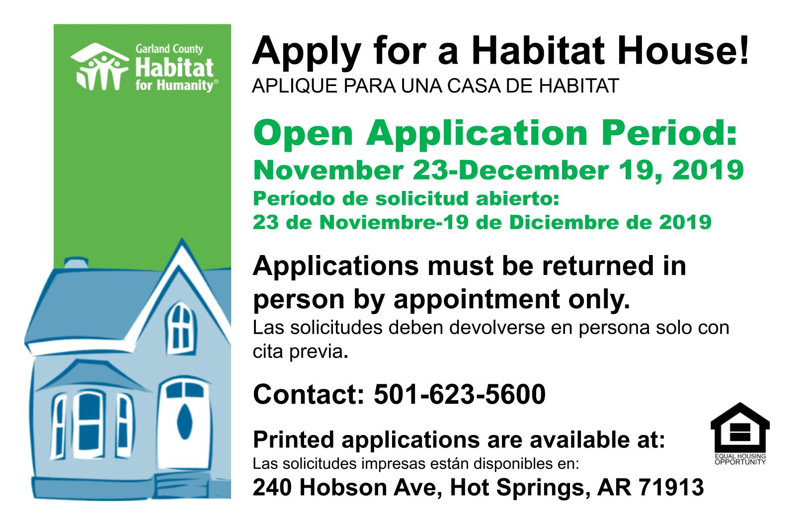Apply for a Habitat House