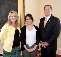 Sen. Cam Ward, Connie Nolen, & Scarlett Lara Alcantara.