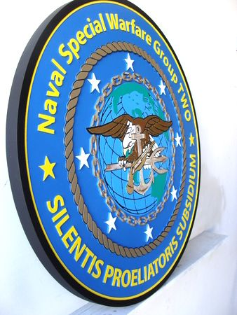 V31265 - Side View of Special Warfare Wall Plaque
