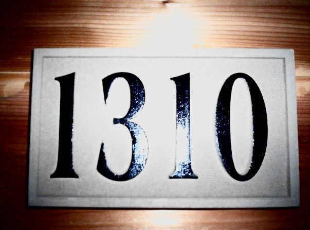 T29213- Carved High-Density-Urethane (HDU) Room Number Plaque with Raised  Numbers
