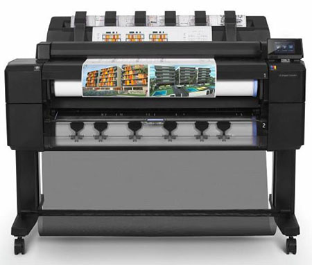 HP large format full-color printer, Posters, Technical Drawings