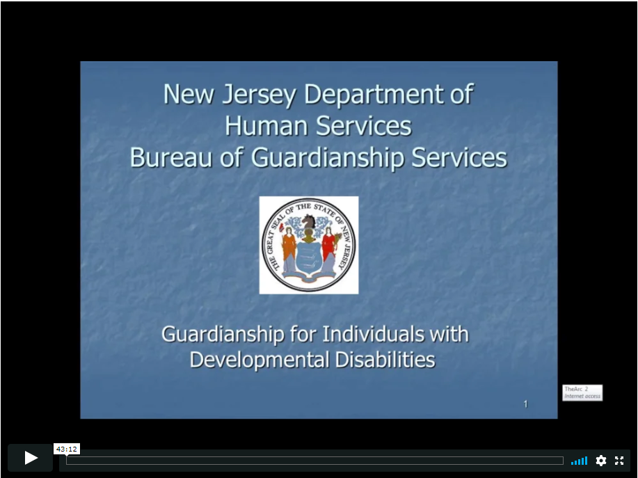 New Jersey Department of Human Services Bureau of Guardianship Services: An Overview of Guardianship