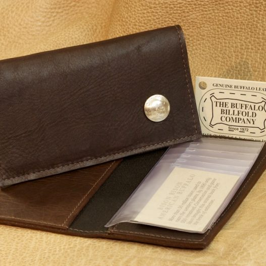 Checkbook Cover with Buffalo Coin
