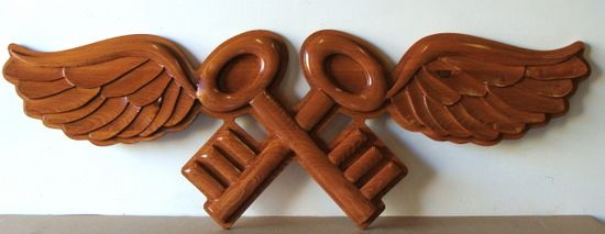 V31152 - 3-D Carved Mahogany Emblem for Special Projects