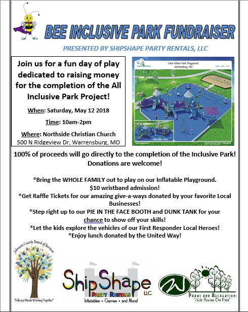 Bee Inclusive Park Fundraiser May 12th, 2018