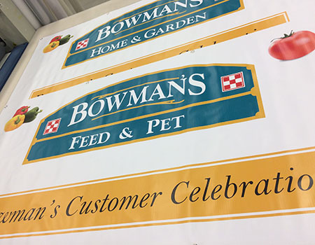 Bowman's Feed & Pet Banners