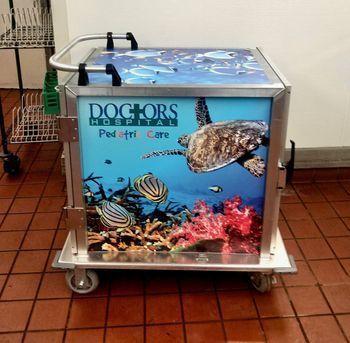 Doctors Hospital Pediatric Unit Food Cart Vinyl Wrap