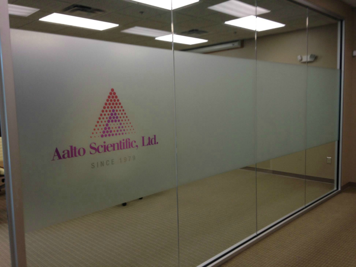 Printed Frosted Privacy Film