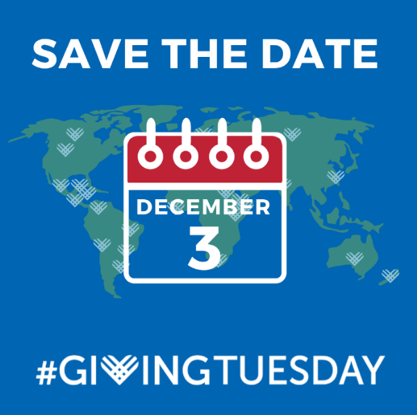 Save the Date for Giving Tuesday, December 3rd.
