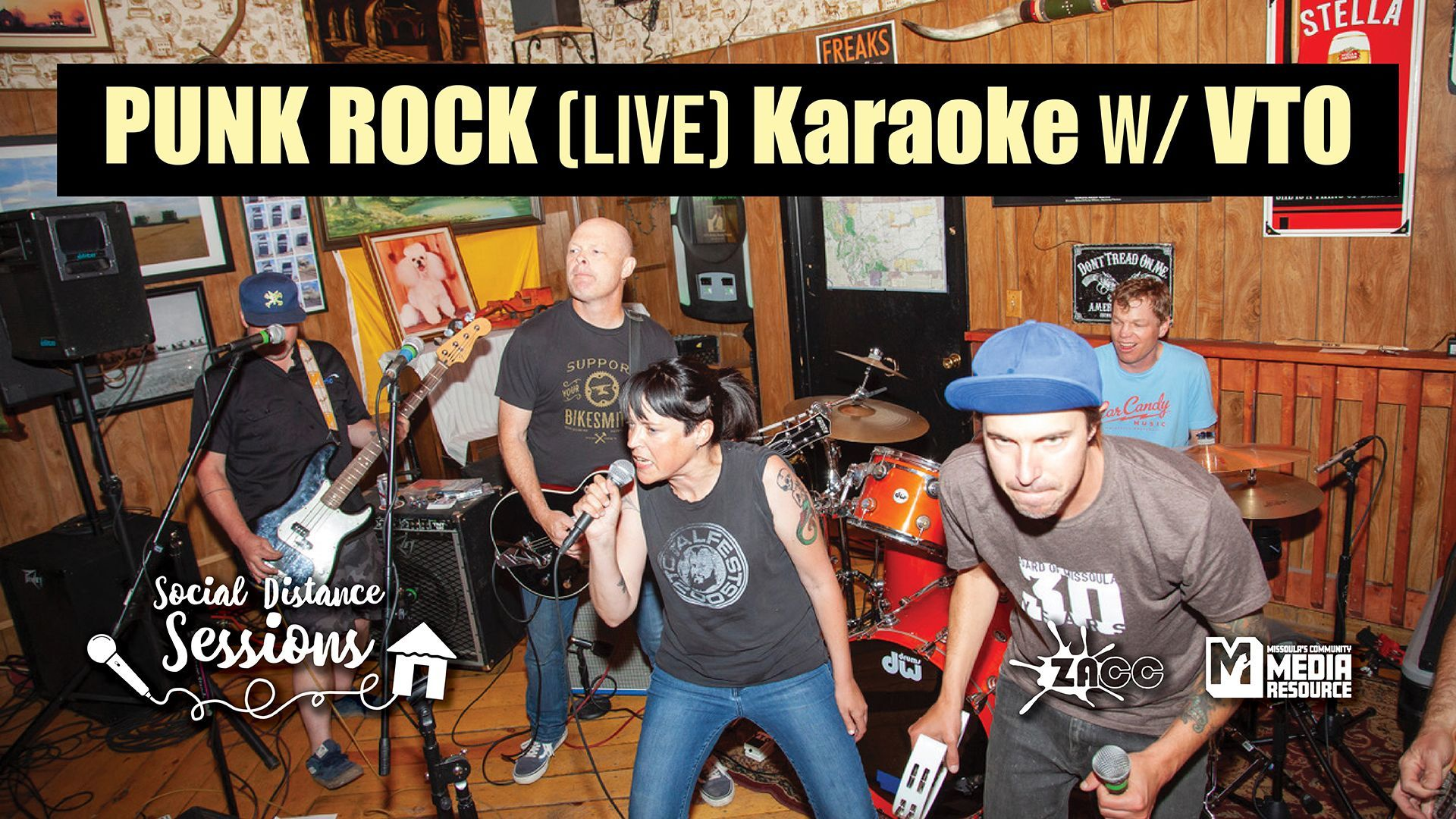 Social Distance Sessions: Punk Rock (LIVE) Karaoke with VTO