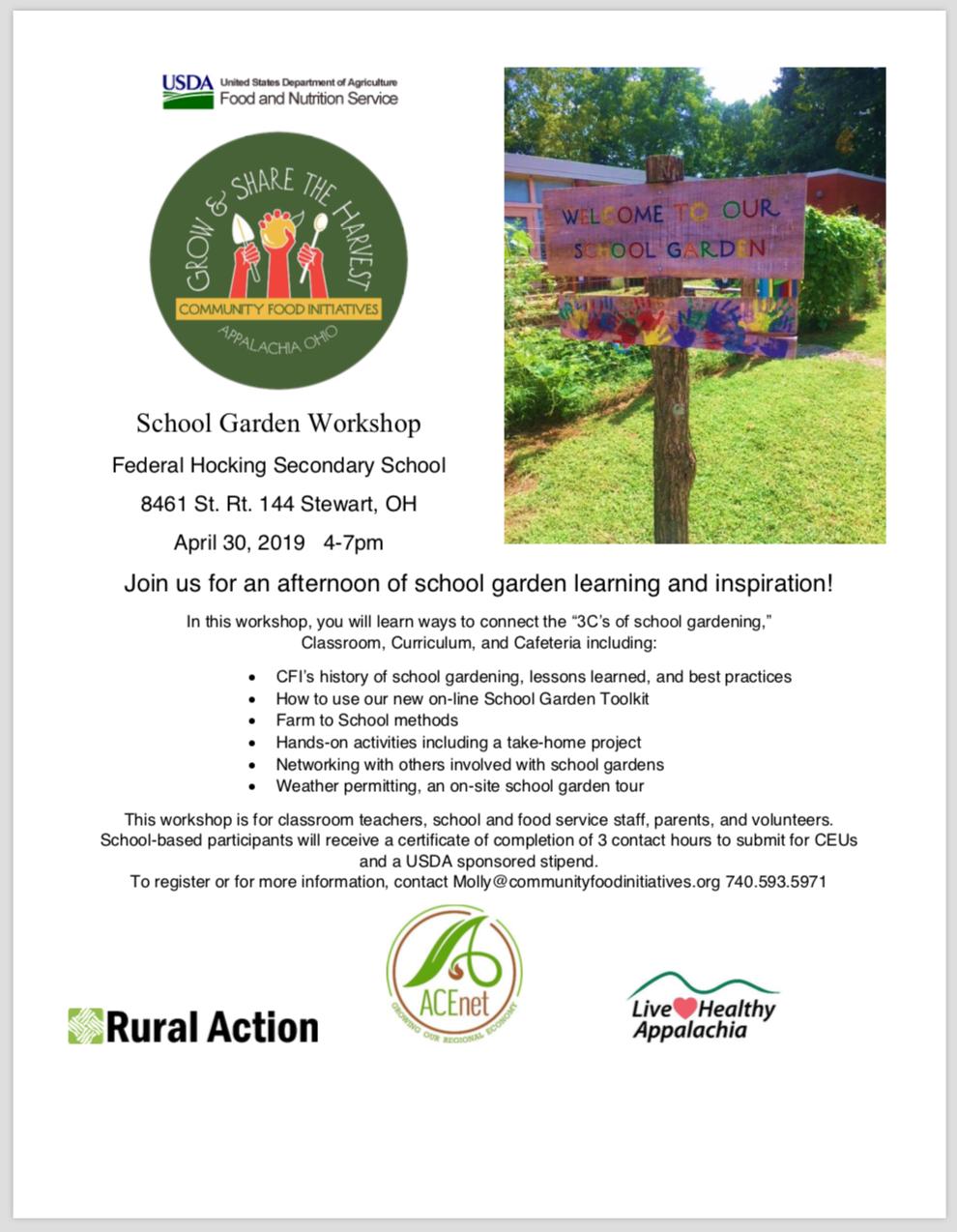 School Garden Toolkit Workshop