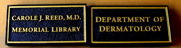 M7183 - Brass Room Identification Signs