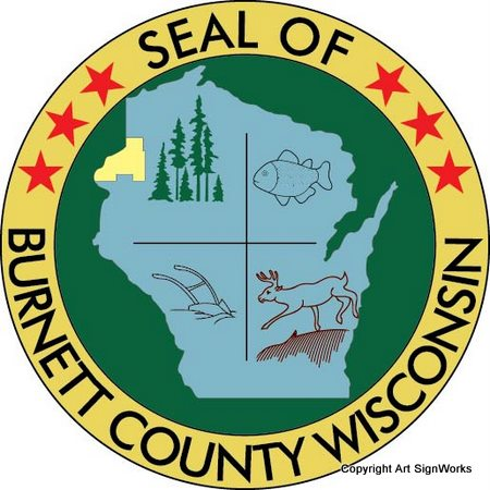 X33307 - Seal of Burnett County, Wisconsin
