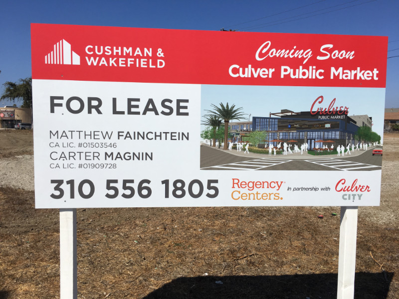 Building Development Coming Soon Signs Los Angeles