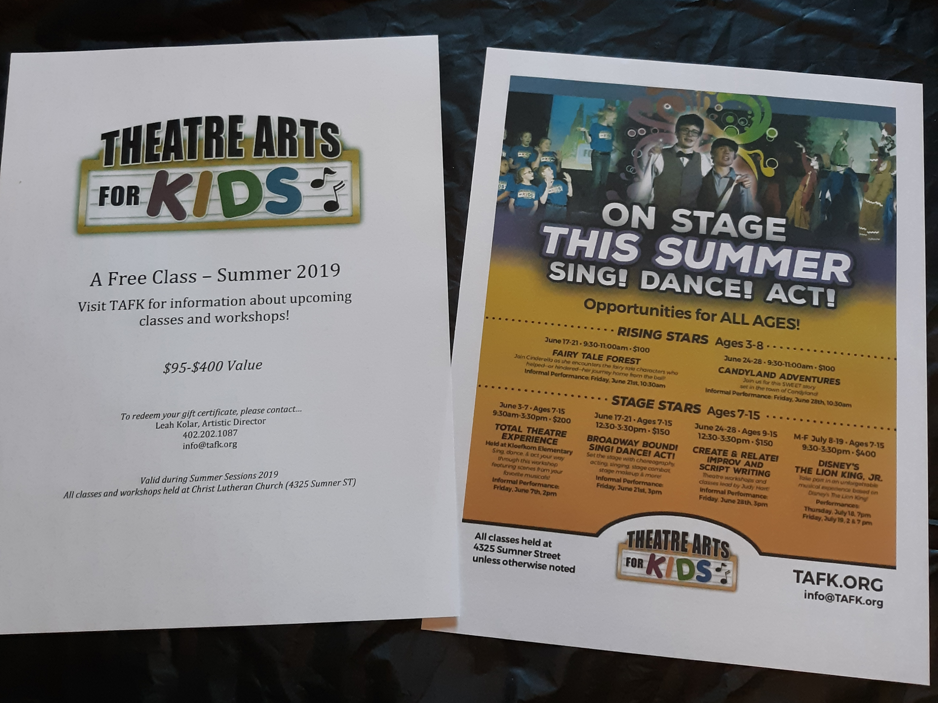 Basket #4 - Theatre Arts for Kids