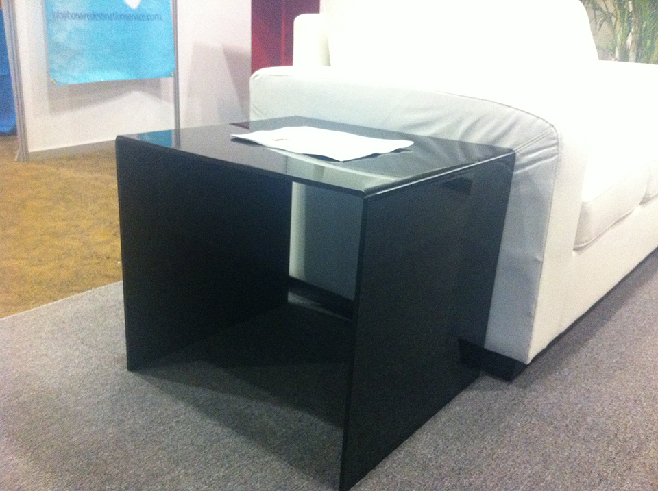 Acrylic side table black