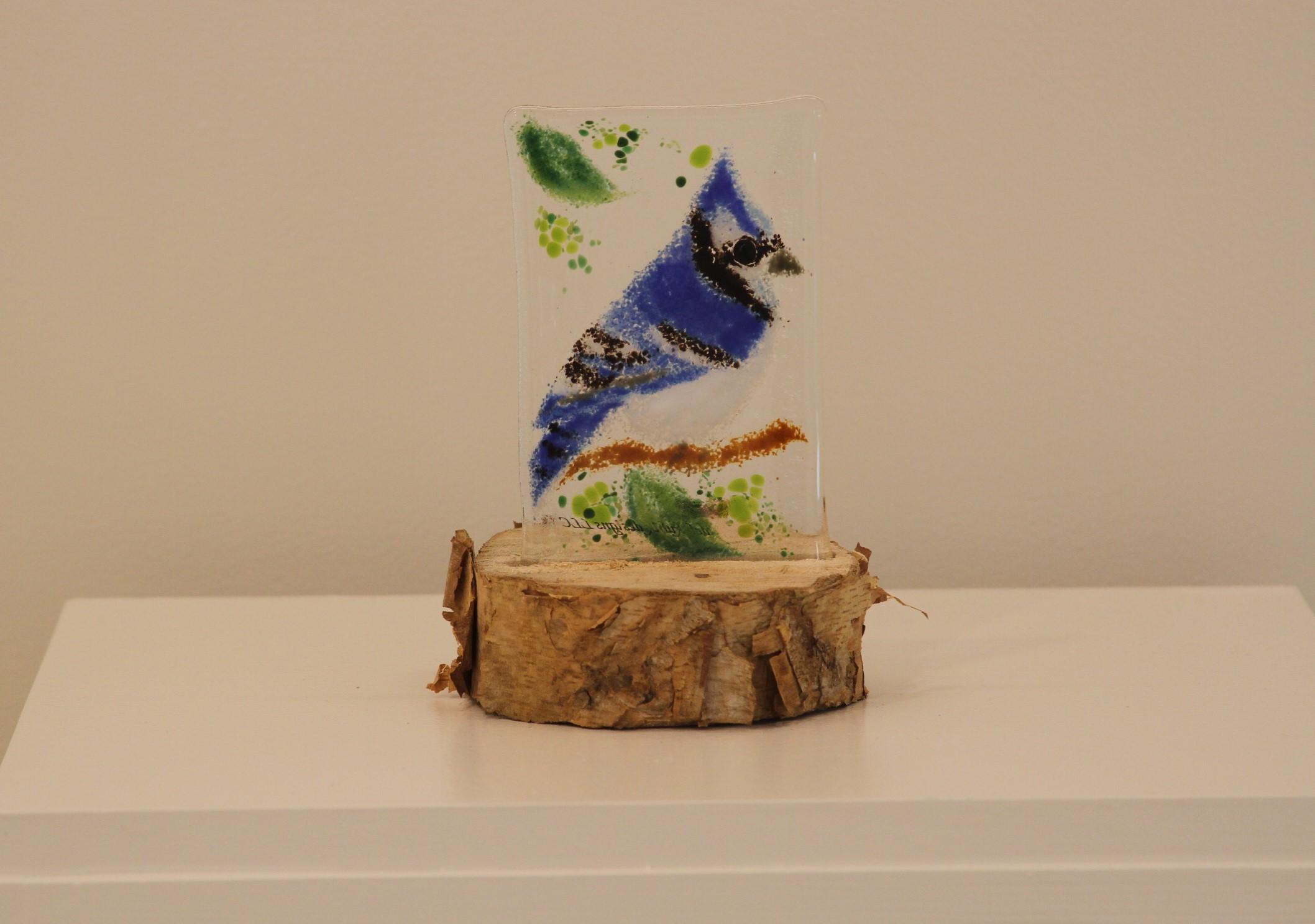 Blue Jay (on stump)