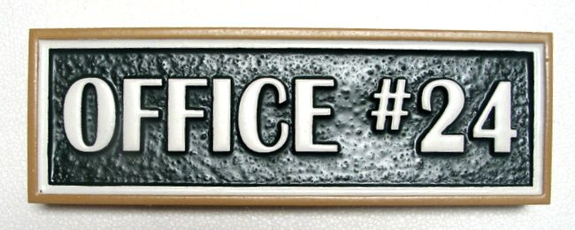 SB28860 - Carved and Sandblasted Indoor Office Number Sign