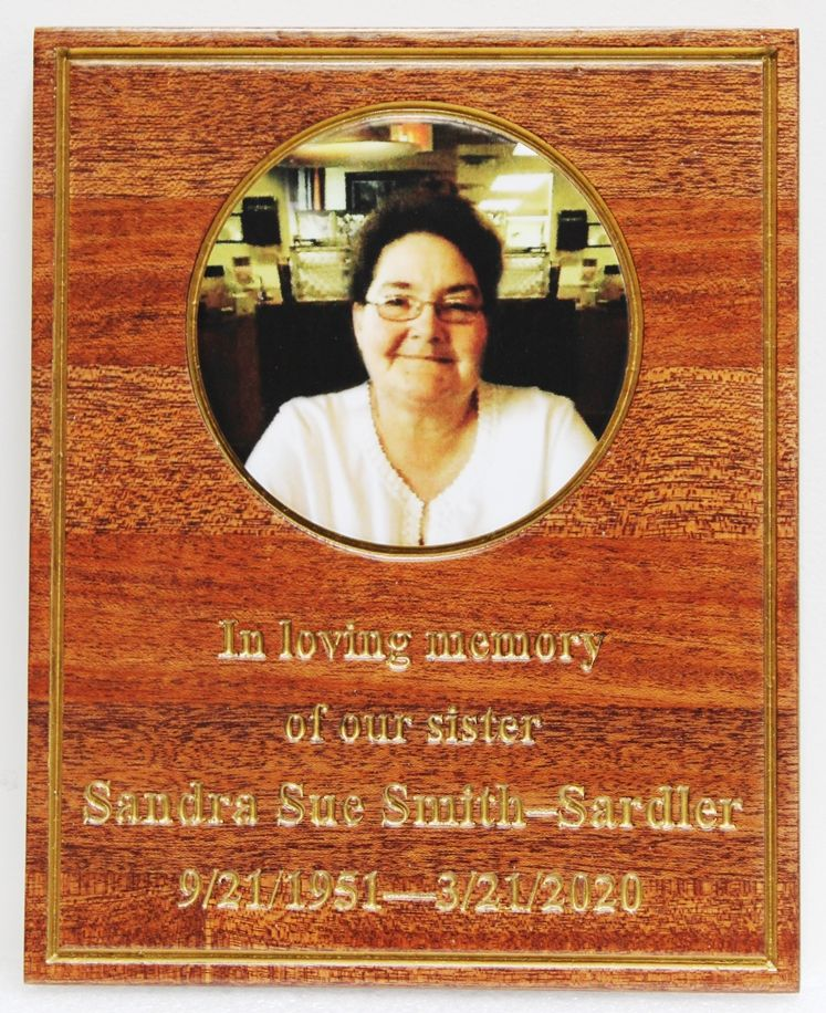 ZP-4025 - Memorial Plaque for Family Member, with Giclee Photo