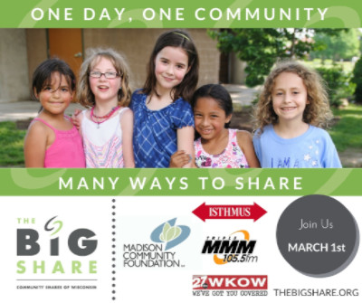 Share with Wisconsin Literacy on March 1st