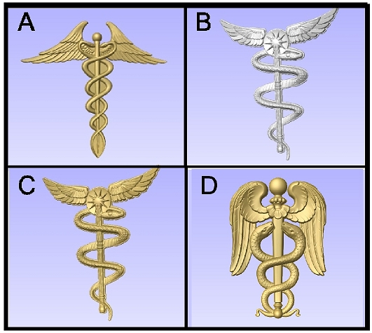 B11290 -  3D Carved Insignia for Medical Signs and Plaques