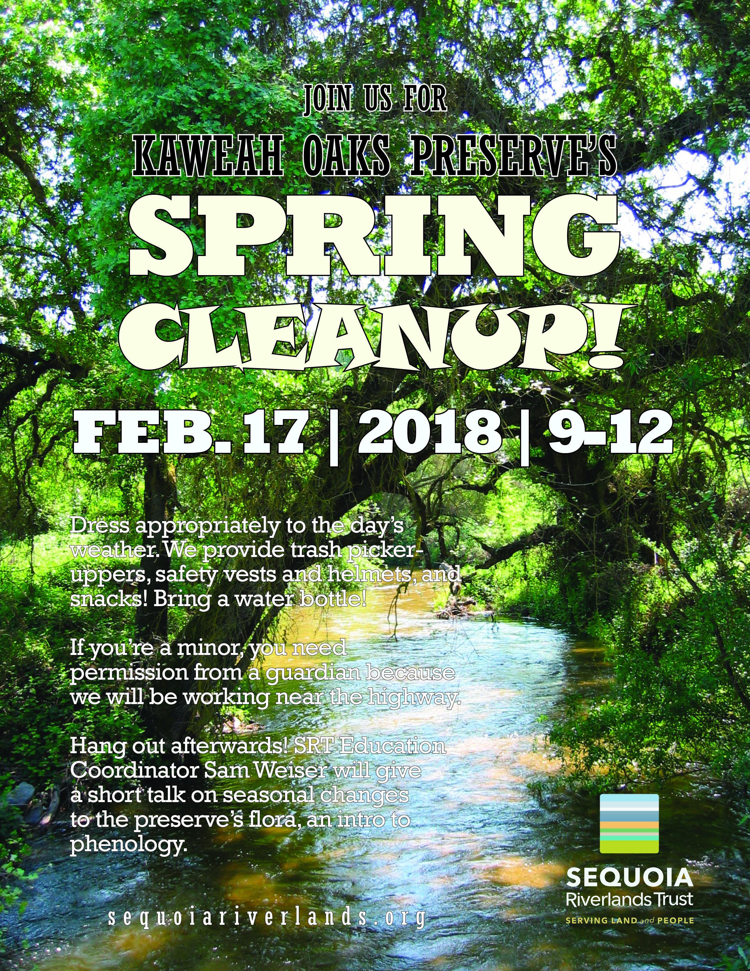 Let's Spruce Up Kaweah Oaks Preserve!