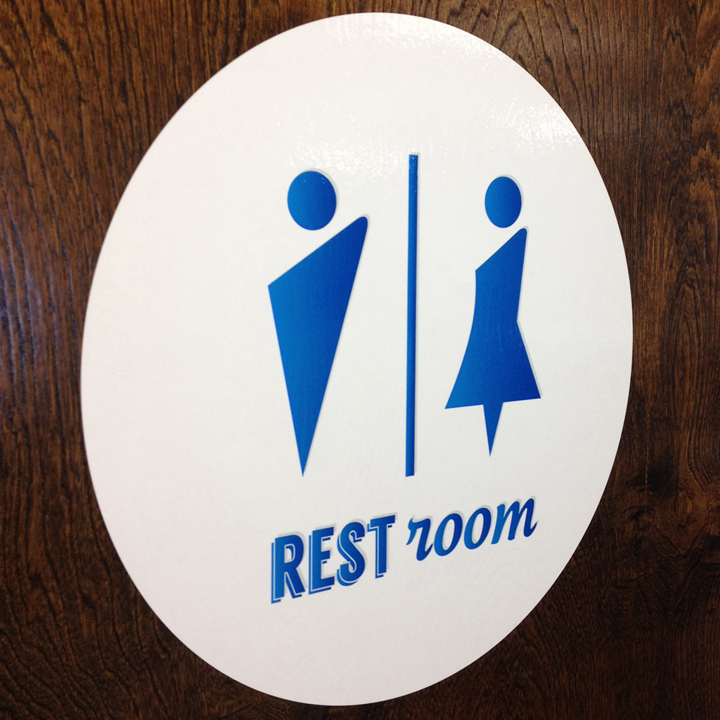Custom Restroom Door Decals