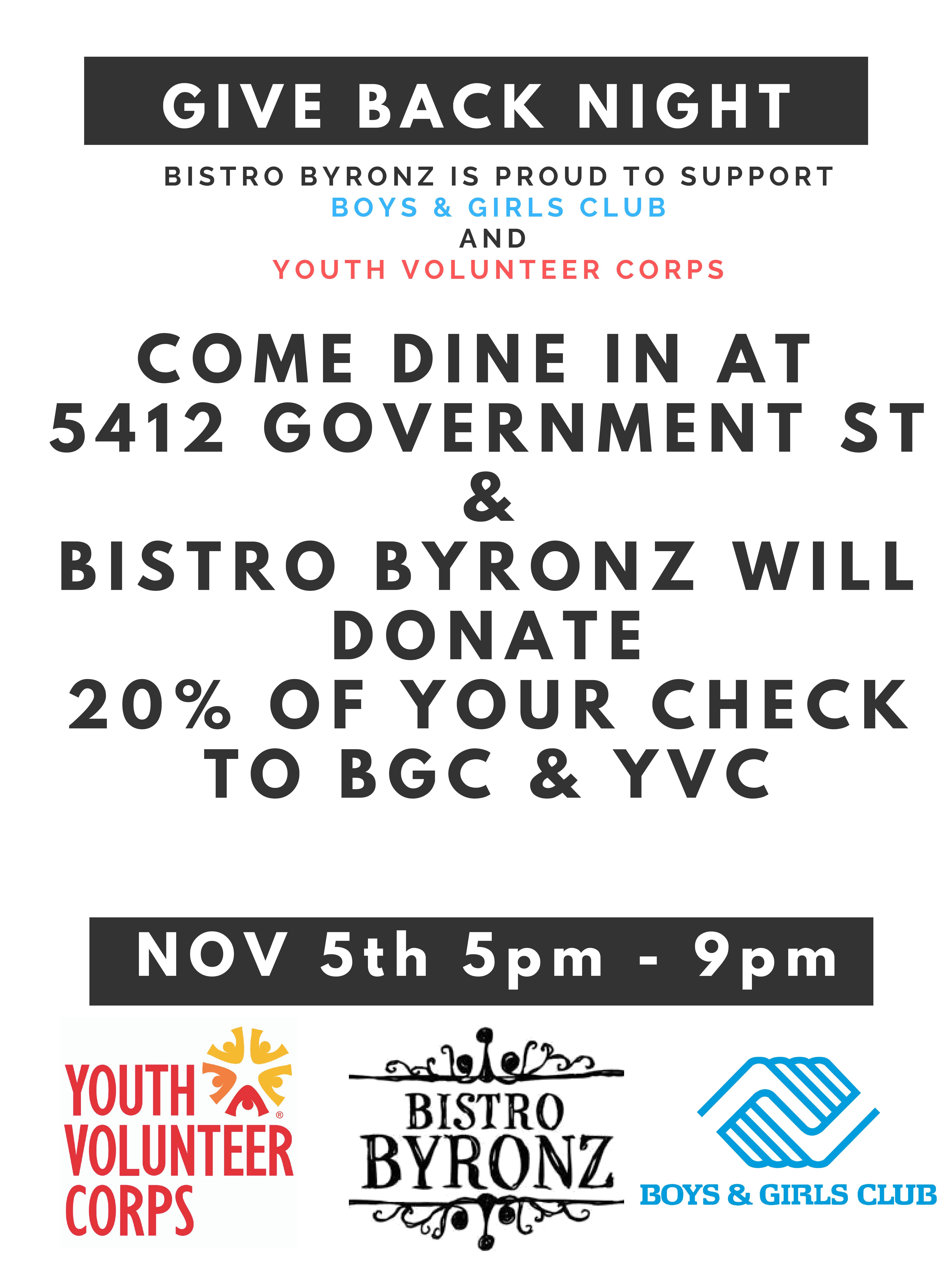 Bistro Bryonz Family Fundraiser