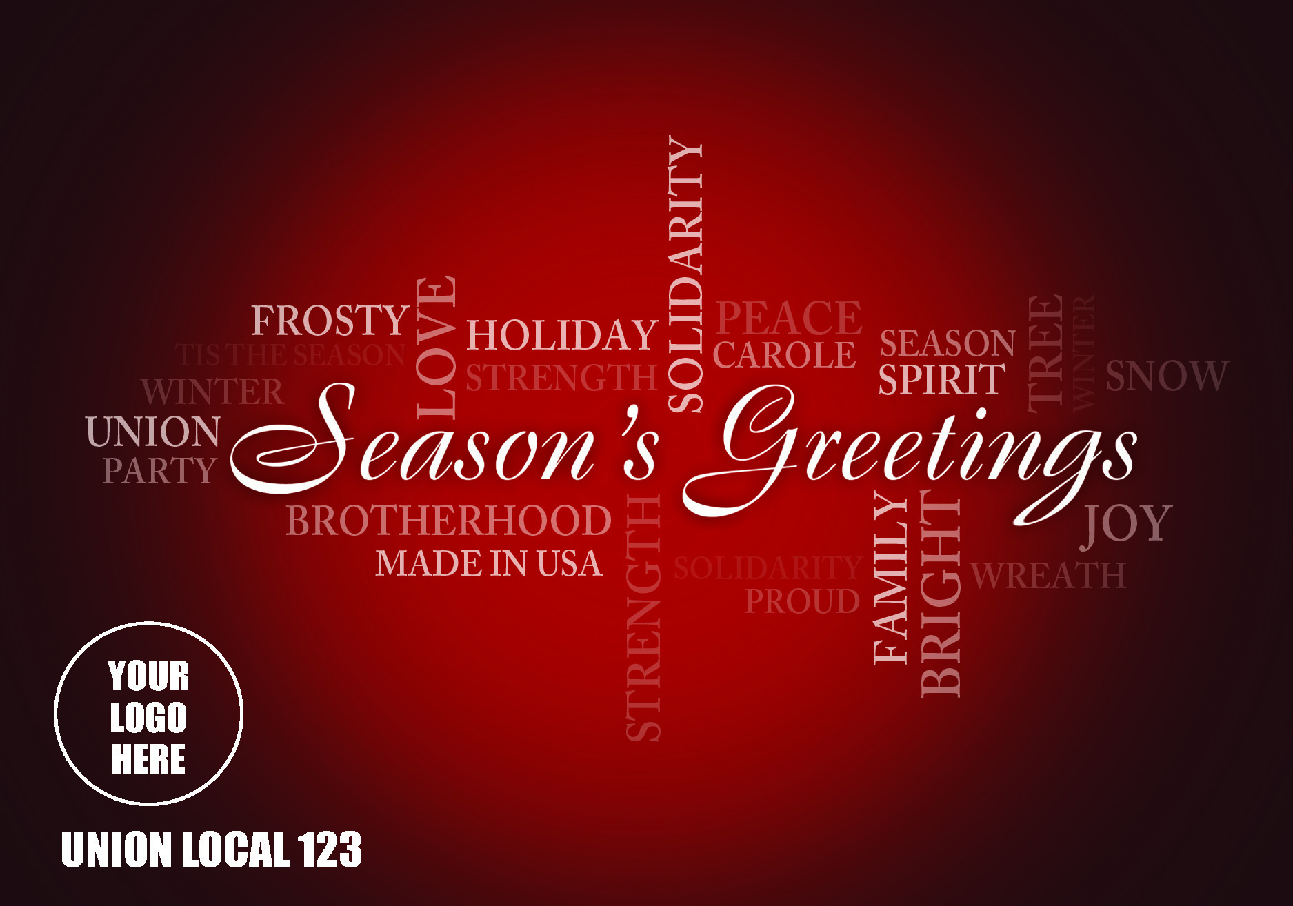 Season's Greeting Red