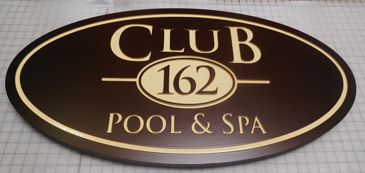 GB16115 - Engraved HDU  Sign  for a Pool & Spa Club