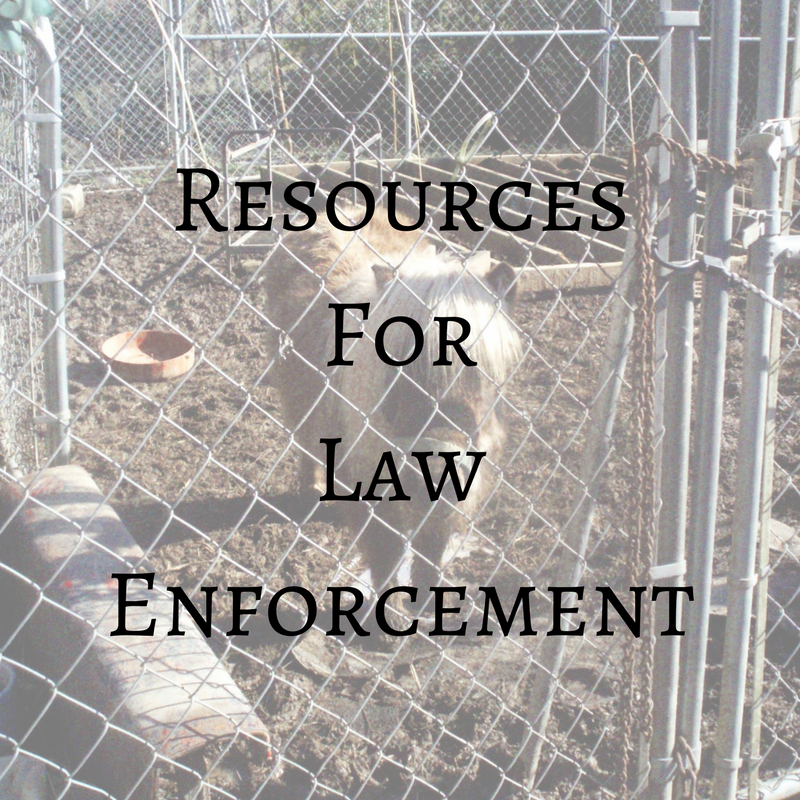 Resources for Law Enforcement