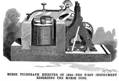 1844: First telegraph message was sent.