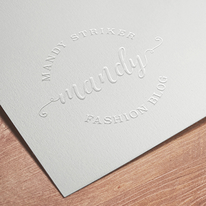 Request an estimate for embossing.