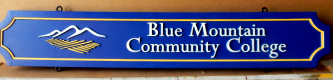 FA15535 - Carved Entrance Sign for Blue Mountain Community College