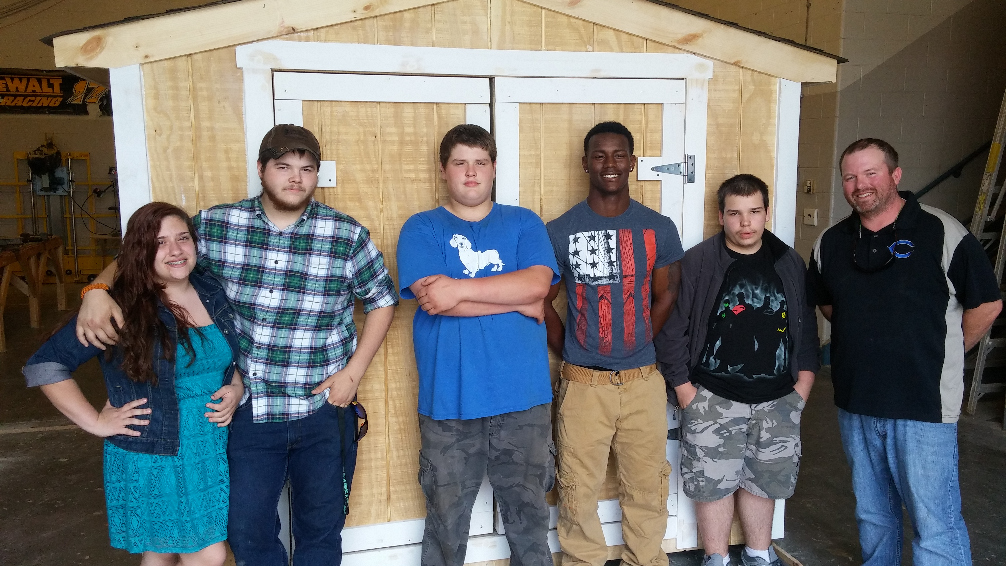 Cumberland students build shed