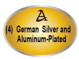 M7250 - (4) Nickel-Silver, Stainless Steel, and Aluminum Coated Plaques