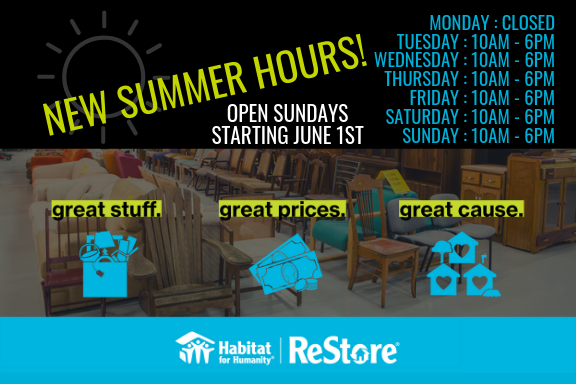 ReStore Summer Hours