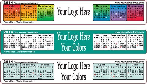 Adhesive Calendar Strips