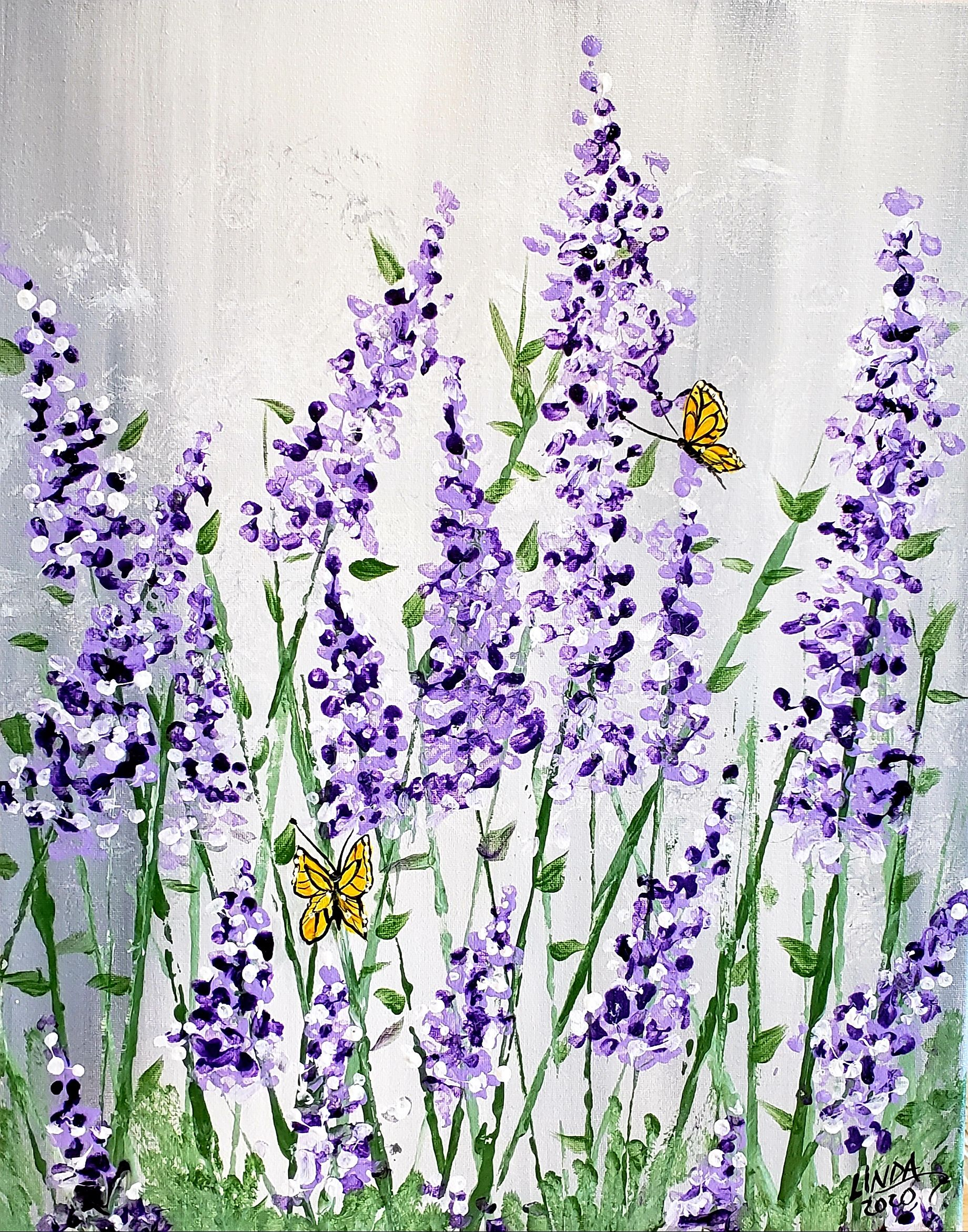 "Coffee & Canvas Class wity Linda Anderson-Paine ""Lavender Fields"""