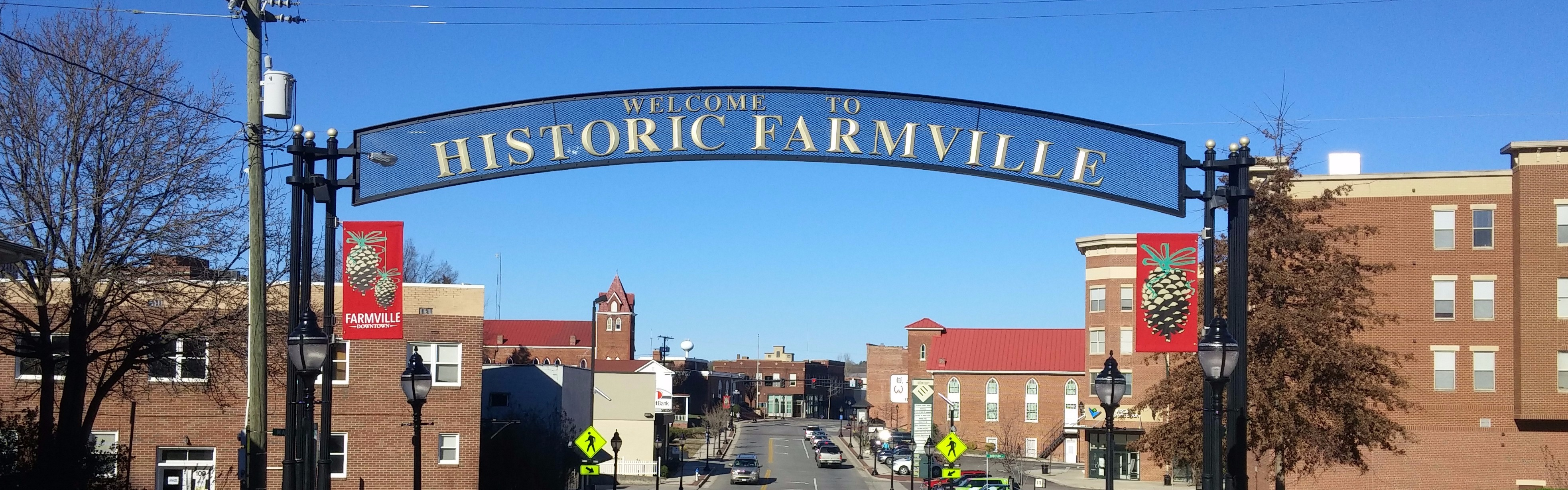 Welcome to Farmville sign