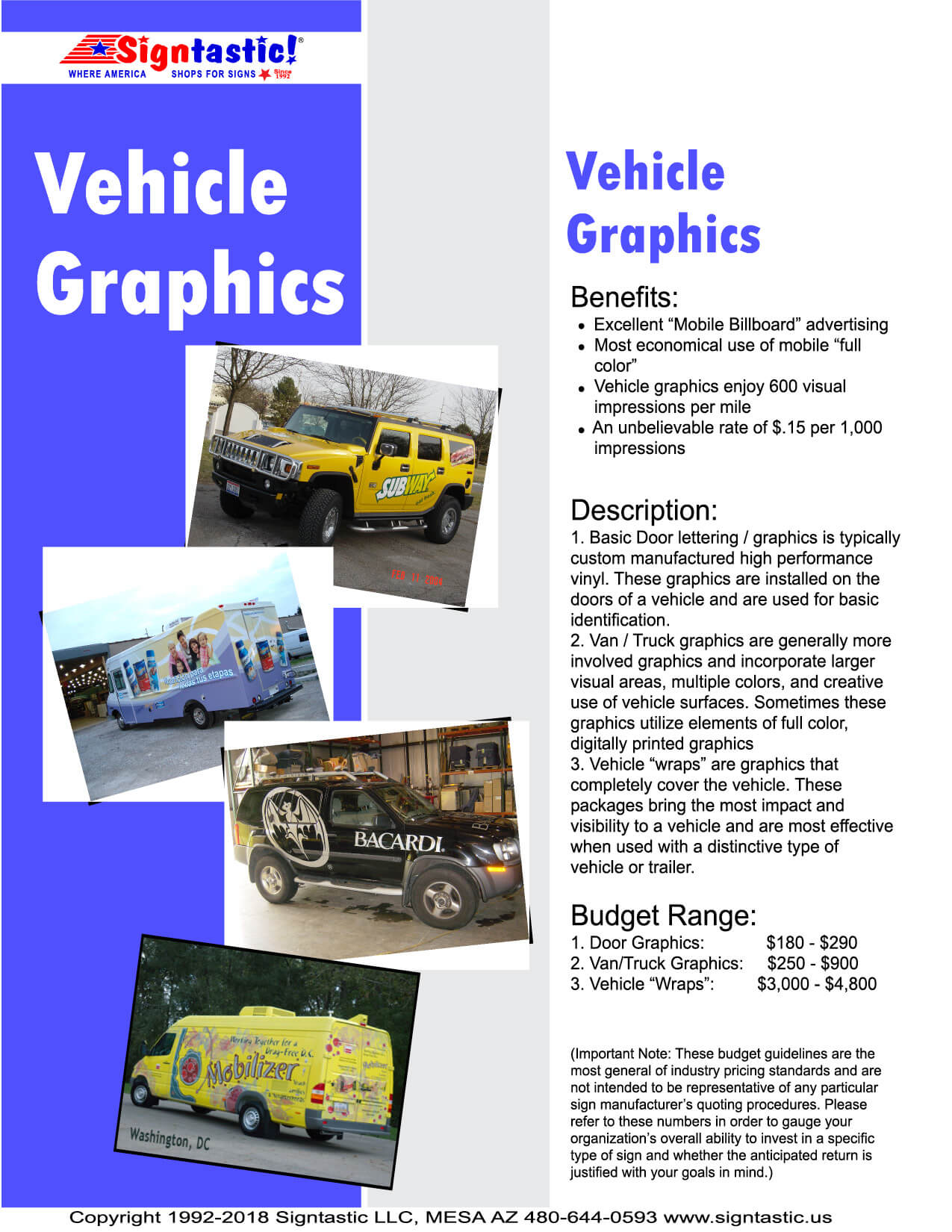 Vehicle Graphics Page