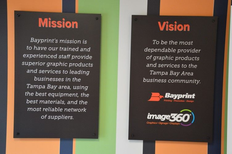 Our Mission-Vision Lobby Display