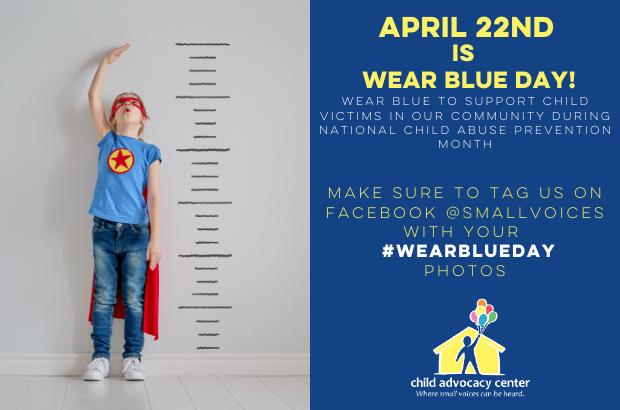 Wear Blue Day is April 22nd!