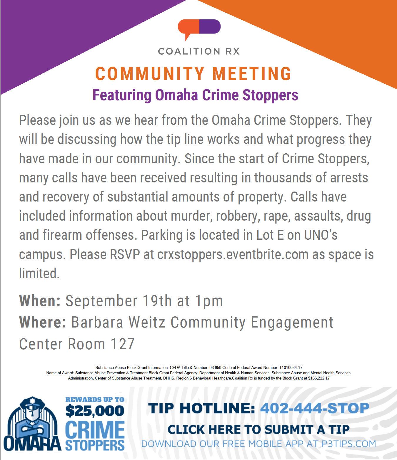 Community Meeting with Crime Stoppers