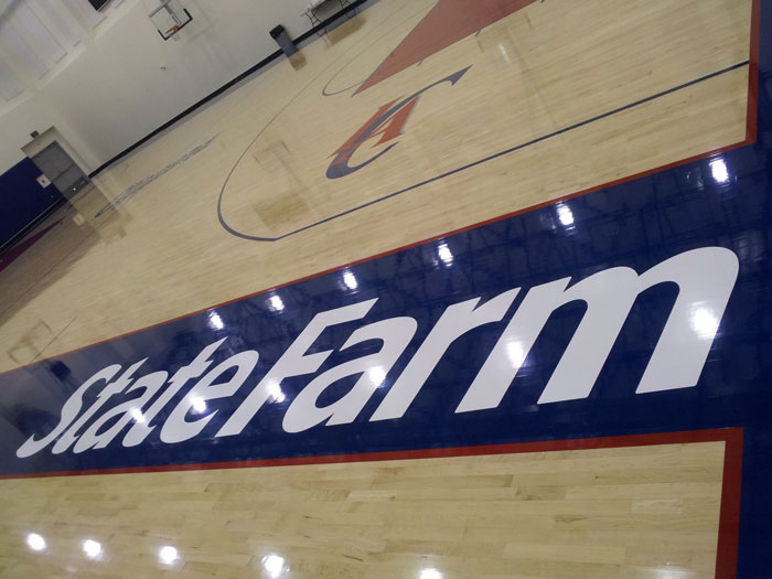LA Clippers Floor Graphics