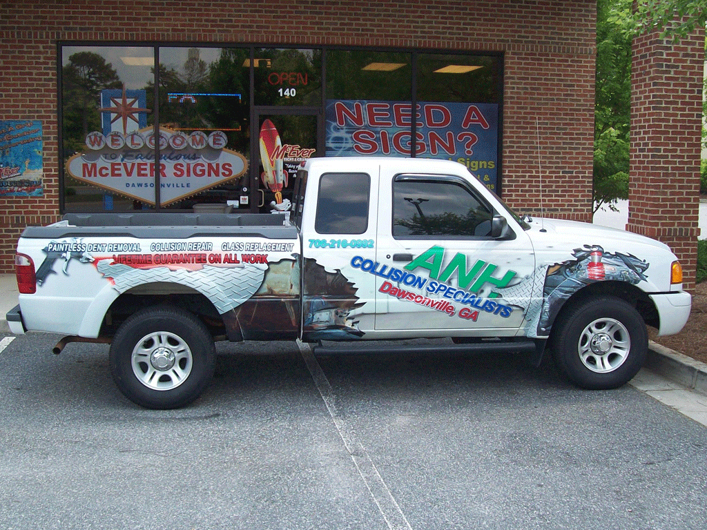 ANH Collision Truck Wrap