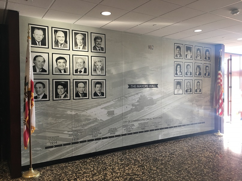 Wall Wrap (City of  Commerce Mayors Wall)
