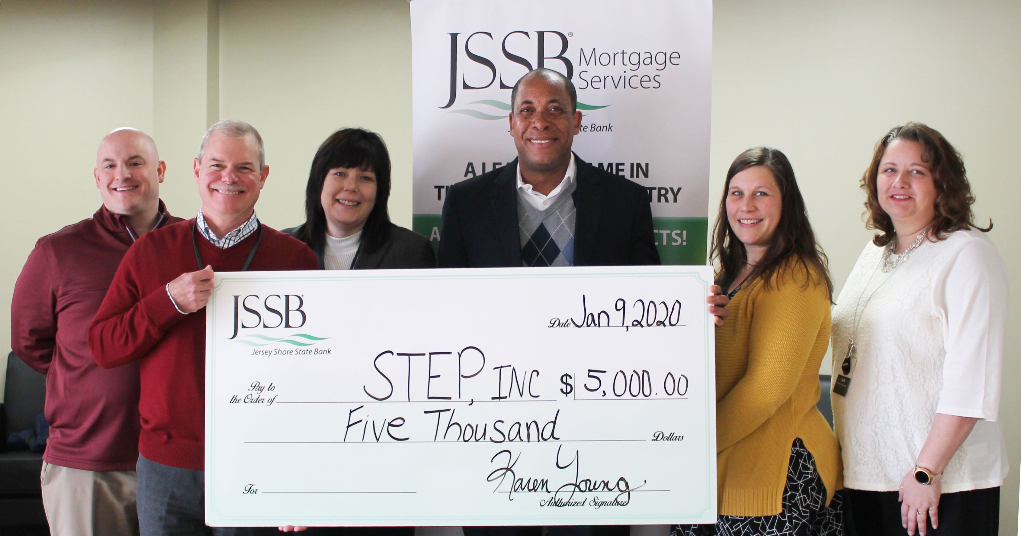 STEP Receives $5,000 for Supportive Housing Program from Jersey Shore State Bank