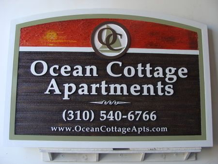 "K20104 -   Entrance Sign for  Seashore ""Ocean Cottage Apartments"""